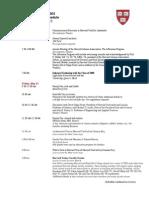Harvard 2003 10th Schedule