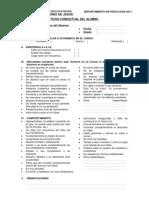 Ficha Conductual Del Alumno
