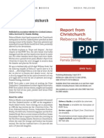 Report from Christchurch (9781927131862) - BWB Media Release