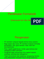 Pendekatan Formalistik