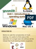 Unit I Single Task OS