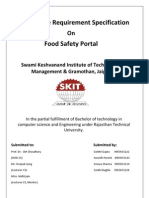 srs on food safety portal