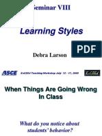 NAU 09 Sem VIII Learning Styles