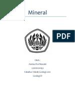 Geologi Dasar - Mineral
