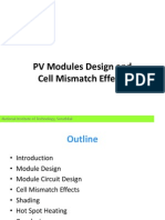 PV Modules Design and Cell Mismatch Effects