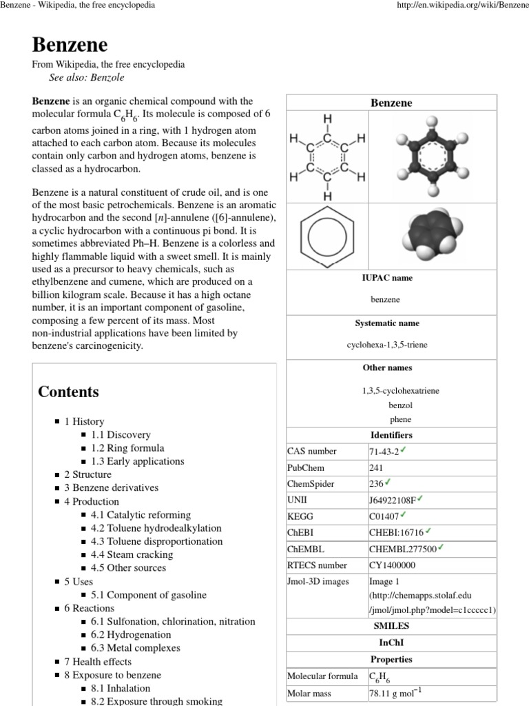 benzene ring discovery