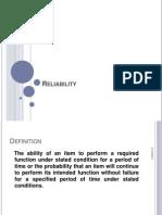 Md. Imrul Kaes - Reliability 2013-5-13