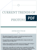 Current Trends of Solar Photovoltaics