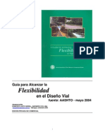 Flexibilidad en Diseño Autopistas 2004 AASHTO