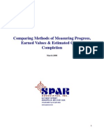 Comparing Methods of Measuring Progress, Earned Values & Estimates at Completion.pdf