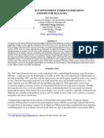 FDI under uncertainity