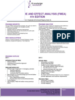 FMEA 4th Edition & Control Plan