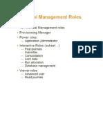 HFM User Roles