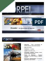 Cifras Inversiones en Ecuador Corpei