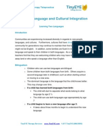 TinyEYE.com Stages of Language and Cultural Integration for Children
