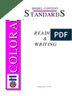 Colorado Reading Standards