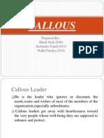 Callous Ppt