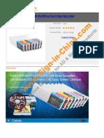 Epson Stylus Pro 4880 Refilling Cartridge 8pcs Set 3846