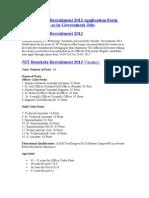 NIT Rourkela Recruitment 2013 Application Form Www.nitrkl.ac.in-Government Jobs