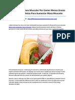 Dietas Para Aumentar Masa Muscular