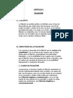 LA FILIACION CAPÍTULO I