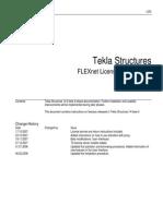 Tekla Structures Flex Net Licensing User Guide