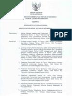 Keputusan Menteri Kesehatan Nomor 373 Tahun 2007 Tentang Standar Profesi Sanitarian