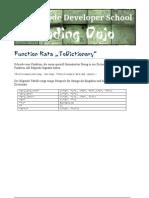 Function Kata ToDictionary