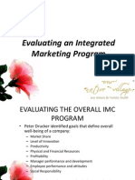 18 Evaluating an Integrated Marketing Program
