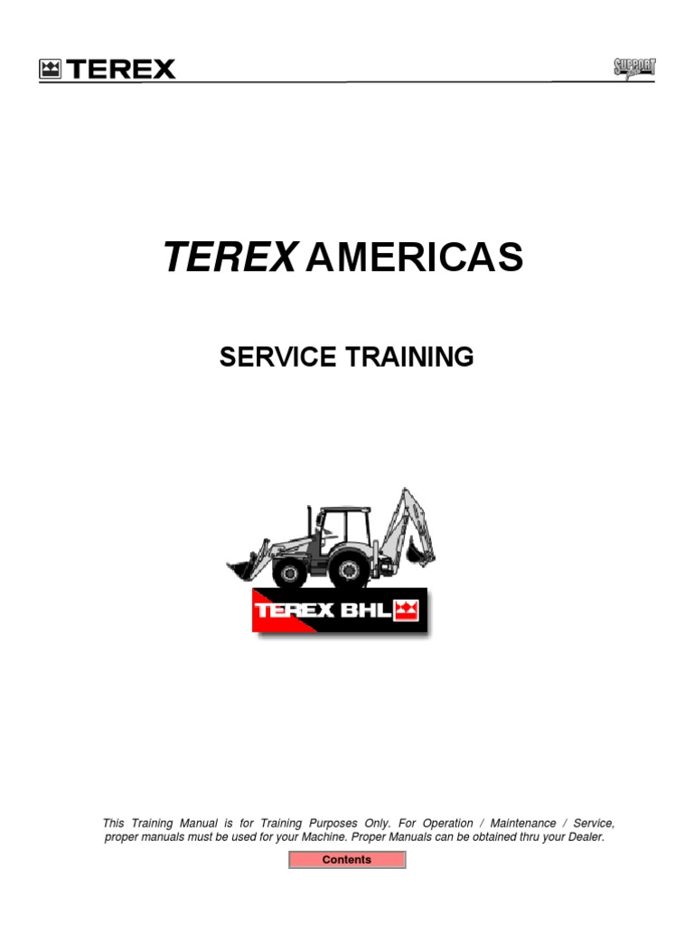 terex bhl train manual battery charger battery electricity rh scribd com Terex Dozer Terex Parts