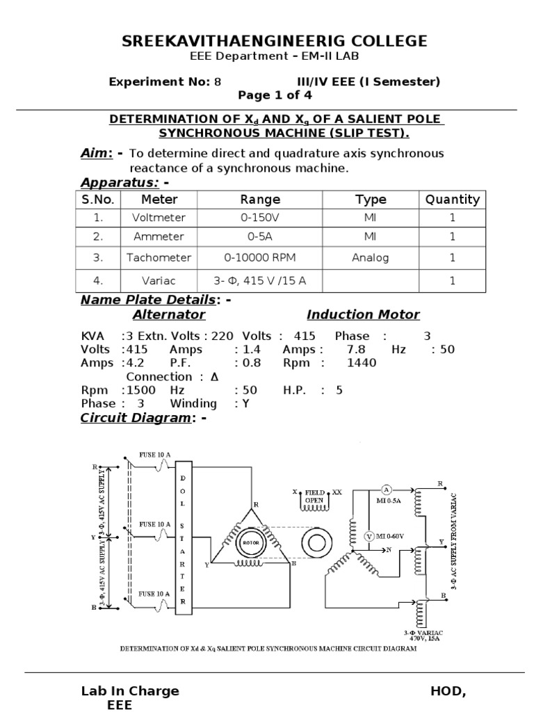 8termination of xd and xq of a salient pole synchronous machine determination of xd and xq of a salient pole synchronous machine voltage electrical components ccuart Gallery