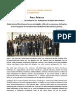 Press Release on Development of Islamic Microfinance