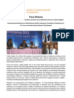 Press Release on Islamic Microfinance Has Solution