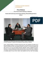 Press Release on Launch Islamic Banking in Uzbekistan