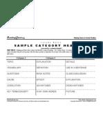 Sample Category Headings