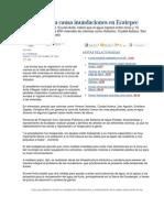 Lluvia Intensa Causa Inundaciones en Ecatepec