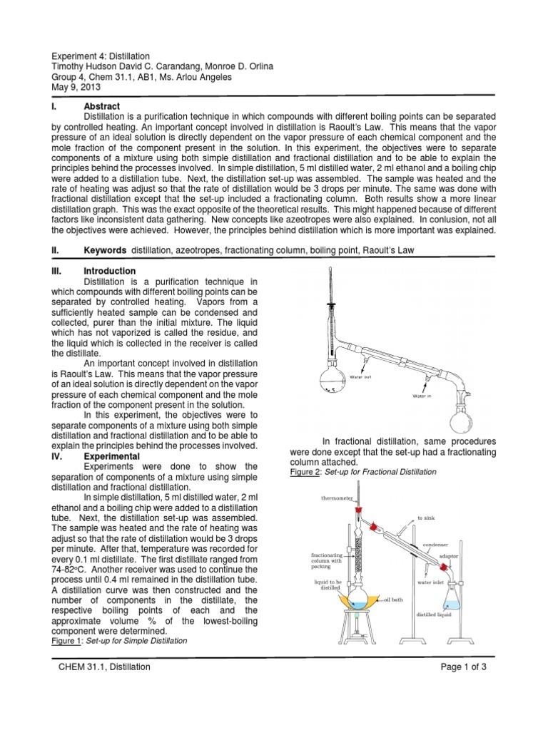 Chem 311 distillation distillation materials science pooptronica