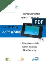 eo™ a7400 Windows Tablet PC datasheet