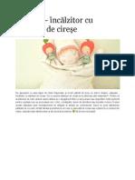 Papusa-incalzitor cu samburi de cirese