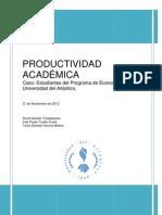 PAPER ECONOMETRIA _PRODUCTIVIDAD ACADÉMICA_