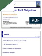 CDO Modeling C. Bluhm