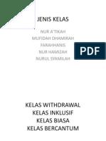 JENIS KELAS
