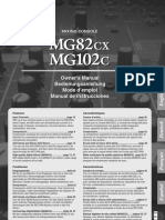 Manual Mixer Yamaha Mg82cx Mg102c