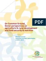 On Common Ground: Donor Perspectives on Agriculture & Rural Development and Food Security & Nutrition