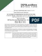 DSP Blackrock MF DAF Ser 15-36 M Application Form download