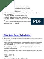 Hspa Data Rates