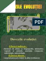 Dovezile evolutiei