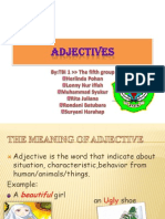 Discussing About ADJECTIVE
