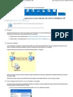 Cómo compartir una impresora en un entorno de red en Windows XP