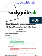 As Accounting Unit 2 Revision Studyguide.pk